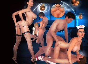 Adult world 3d with intense adult video games