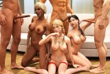 Naked animated girls having a nice orgy