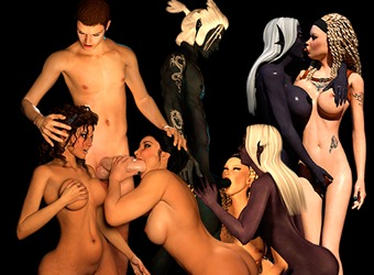 XXX monster sex animations with sexy elf princess